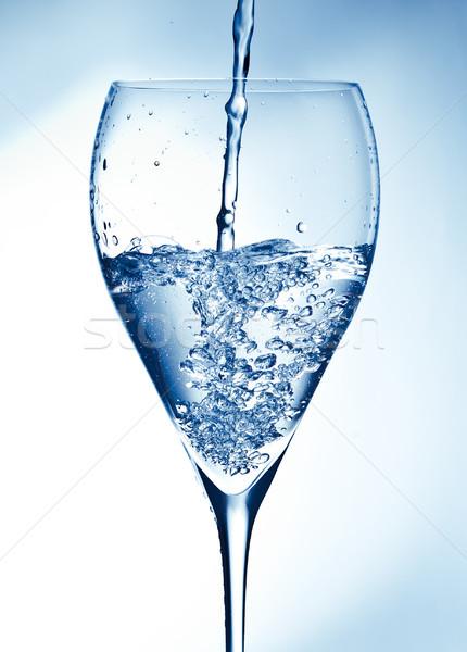 Glas zoetwater water drop witte schone Stockfoto © luckyraccoon