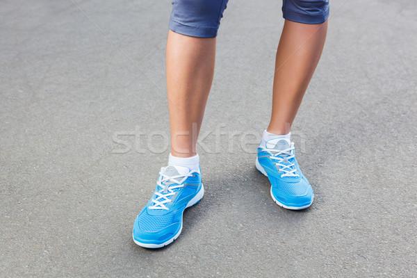 Läufer Schuh läuft Läufer Fuß Stock foto © luckyraccoon