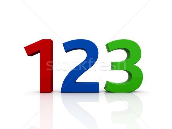 123 sign Stock photo © luckyraccoon