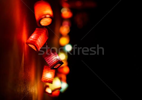 Natale luce copia spazio buio sfondi filo Foto d'archivio © luckyraccoon