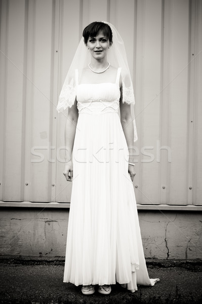 Full Lenght portrait of beautiful bride  Stock photo © luckyraccoon