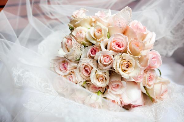 Gelin evlilik beyaz güzel Stok fotoğraf © luckyraccoon