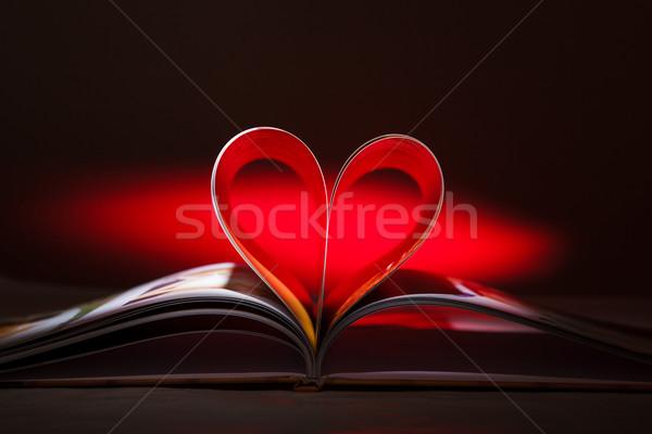 心臓の形態 図書 結婚式 愛 教育 ストックフォト © luckyraccoon