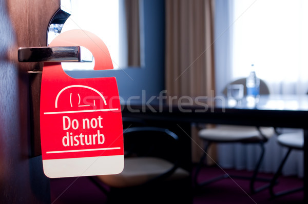 Do not disturb sign Stock photo © luckyraccoon