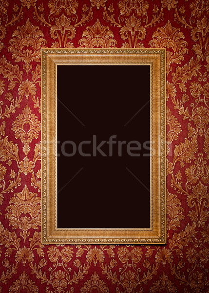 Piros retro belső virágmintás dísz művészet Stock fotó © luckyraccoon