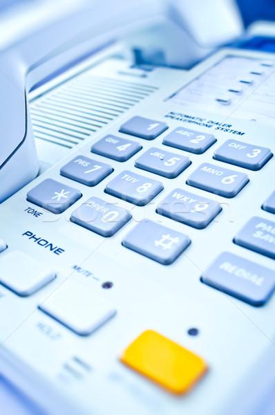 Primer plano escritorio teléfono oficina teléfono Foto stock © luckyraccoon