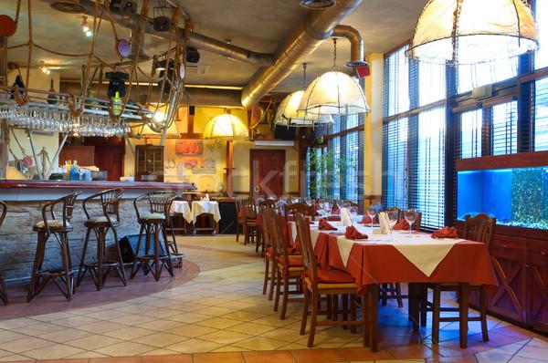 Italian restaurant with a traditional interior  Stock photo © luckyraccoon