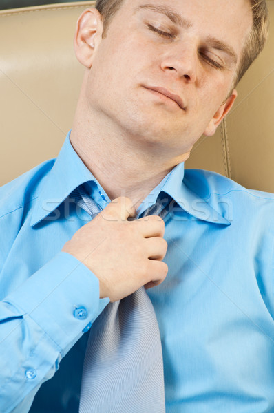Young businessman with health problems  Stock photo © luckyraccoon