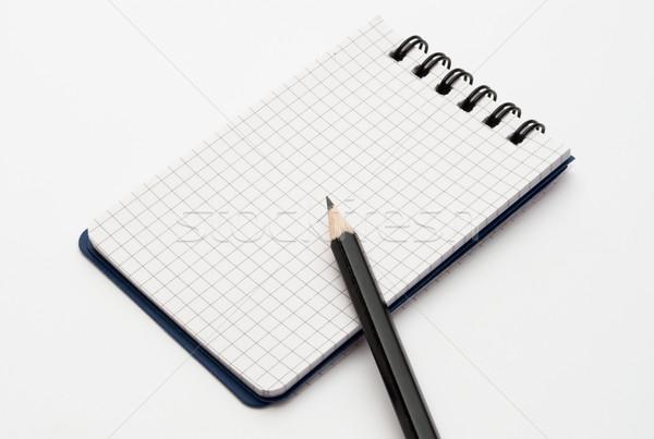 Notebook fekete éles ceruza tavasz könyv Stock fotó © luckyraccoon