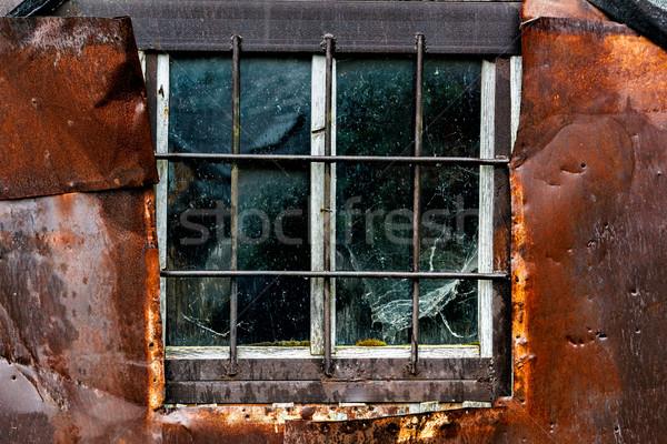 старые выветрившийся окна текстуры древесины стены Сток-фото © luckyraccoon