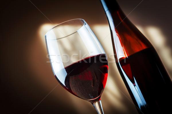 бутылку стекла таблице группа Сток-фото © luckyraccoon