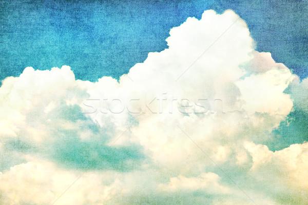 Clouds in summer blue sky - vintage edit. Stock photo © luckyraccoon