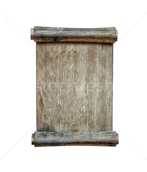 Eski yalıtılmış beyaz ahşap doku çerçeve Stok fotoğraf © luckyraccoon