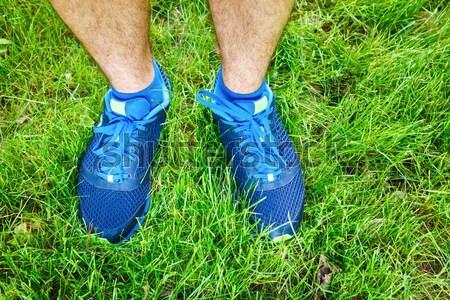 Zapatillas hierba imagen primer plano mujer cuerpo Foto stock © luckyraccoon