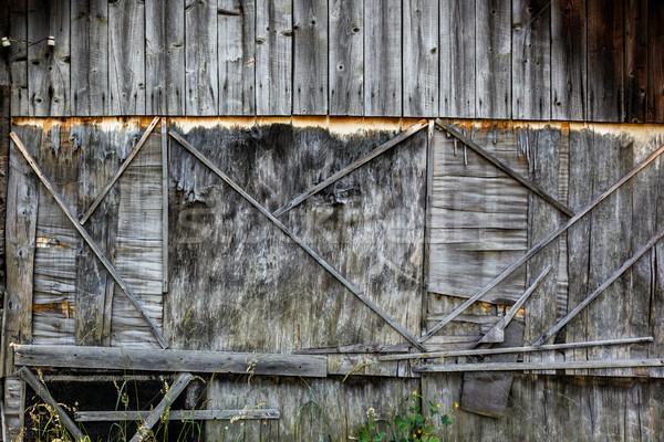 Starych wyblakły sklejka ściany projektu tle Zdjęcia stock © luckyraccoon