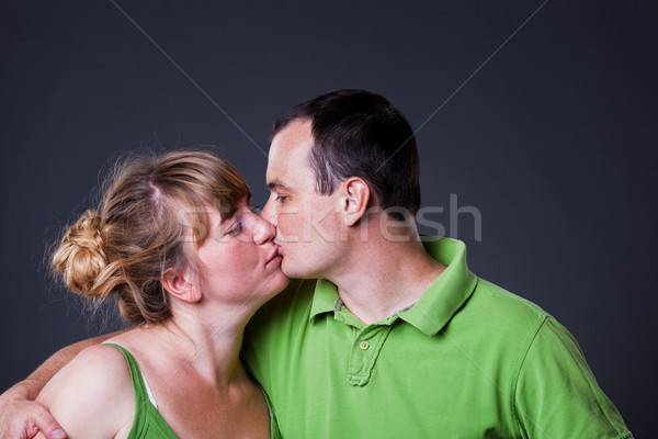 Portret gelukkig samen familie Stockfoto © luckyraccoon