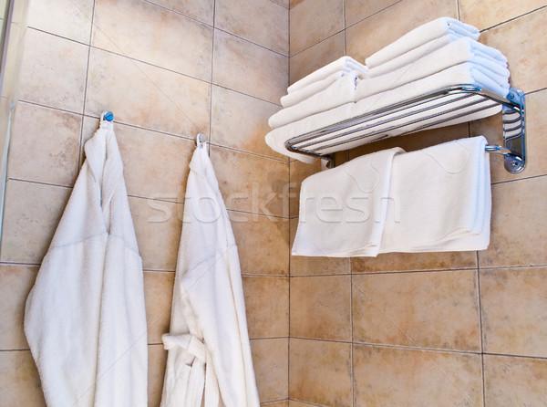 Fehér fal divat pár egészség szépség Stock fotó © luckyraccoon