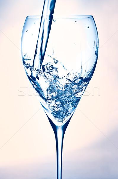 água doce água vidro cair branco limpar Foto stock © luckyraccoon