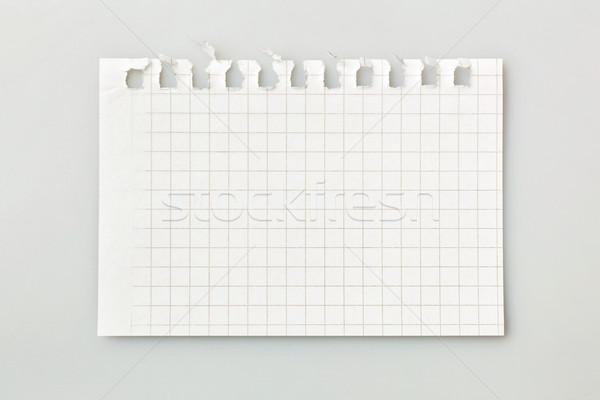 Levha defter gri iş ofis kâğıt Stok fotoğraf © luckyraccoon