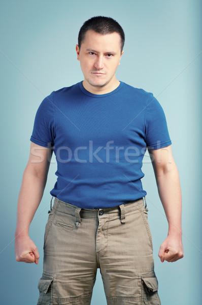 Portrait of an adult man Stock photo © luckyraccoon