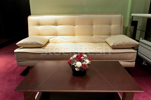 Lobbi fal hotel bútor piros belső Stock fotó © luckyraccoon