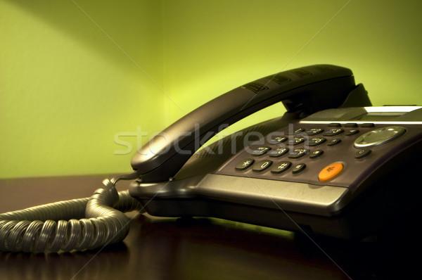 クローズアップ 電話 オフィス 背景 表 連絡 ストックフォト © luckyraccoon
