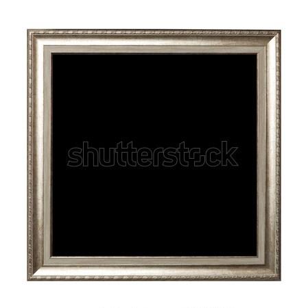 Marco aislado blanco madera diseno fondo Foto stock © luckyraccoon