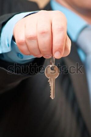 изображение бизнесмен ключевые домой металл Сток-фото © luckyraccoon
