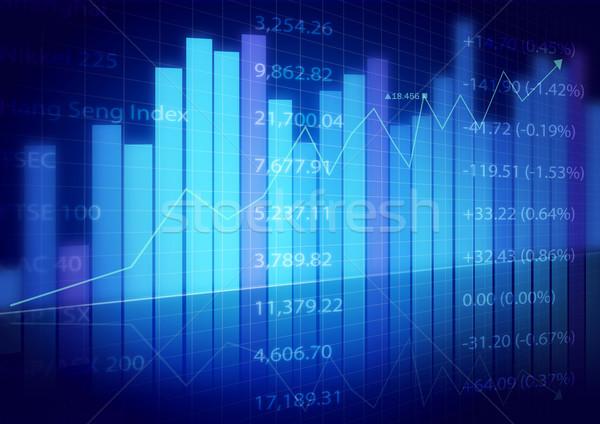 Mercado gráficos negocios bar azul banco Foto stock © luckyraccoon