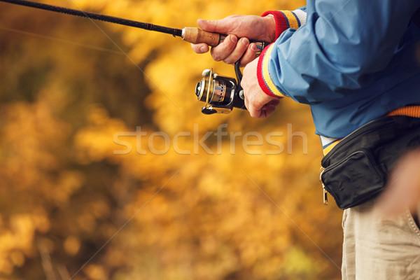 手 クローズアップ 手 秋 釣り シーズン ストックフォト © luckyraccoon