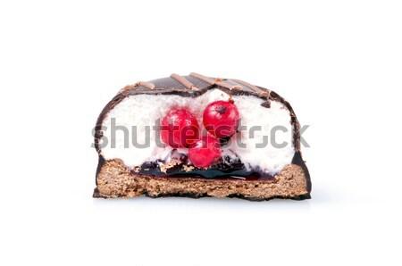 Chocolate cookie isolated on white Stock photo © luckyraccoon