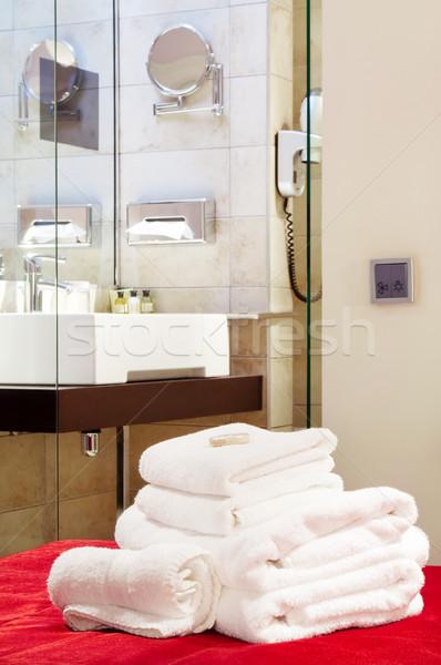 Bathroom in five star hotel Stock photo © luckyraccoon