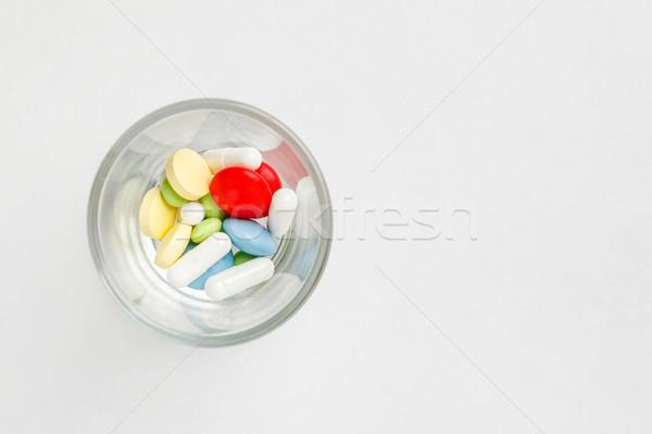 многие красочный таблетки стекла пространстве текста Сток-фото © luckyraccoon