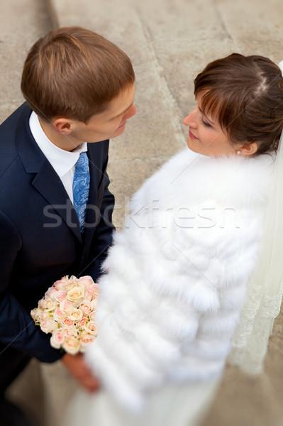 Sposa lo sposo guardando altro wedding amore Foto d'archivio © luckyraccoon