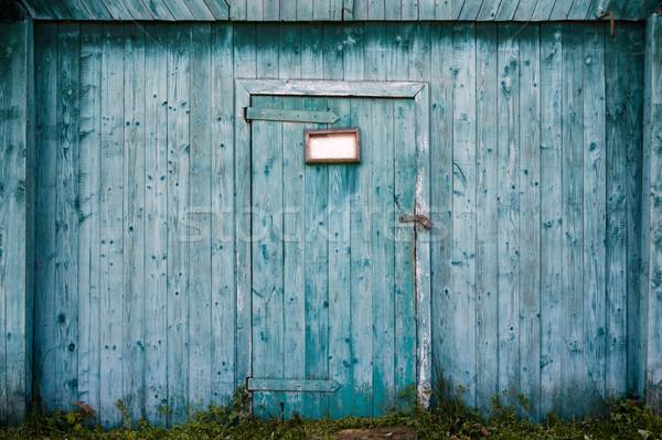 старые сарай двери текстуры стены Сток-фото © luckyraccoon