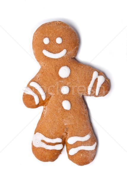 Alimentos sonrisa Navidad felicidad dulce Foto stock © luckyraccoon