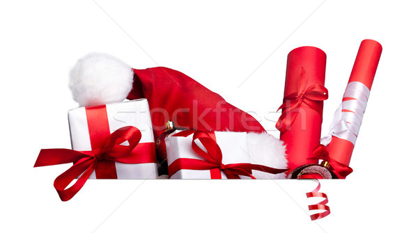 Stock photo: Group of presents with space for your text