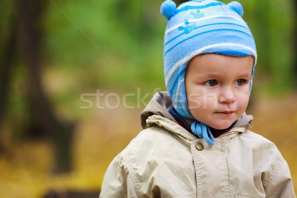 Piccolo baby ragazzo parco ritratto divertimento Foto d'archivio © luckyraccoon