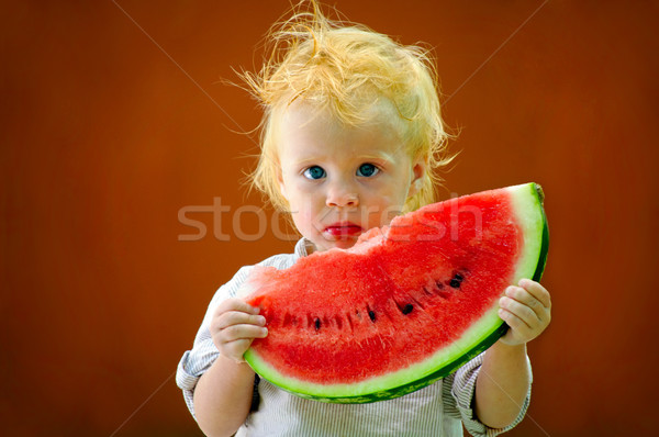 Säugling Baby Melone cute Wasser Stock foto © luckyraccoon