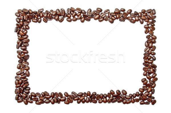 çerçeve kahve çekirdekleri dışarı kahve arka plan grup Stok fotoğraf © luckyraccoon