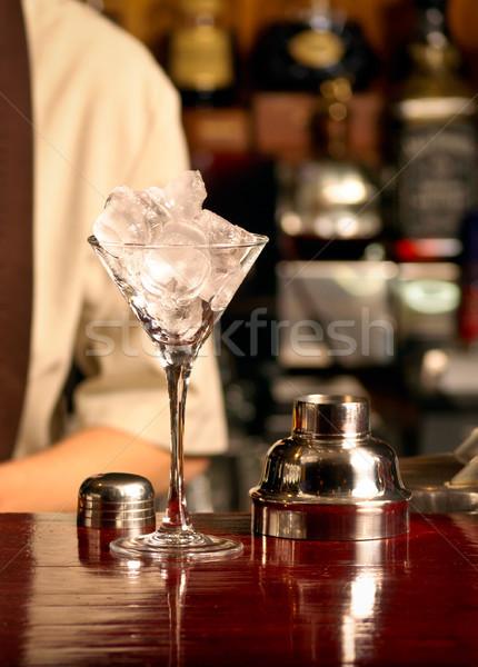 Buz kokteyl ahşap bar parti tablo Stok fotoğraf © luckyraccoon