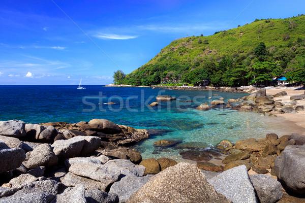 Güzel yaz plaj phuket Tayland su Stok fotoğraf © luckyraccoon