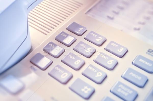 クローズアップ デスクトップ 電話 オフィス 電話 ストックフォト © luckyraccoon