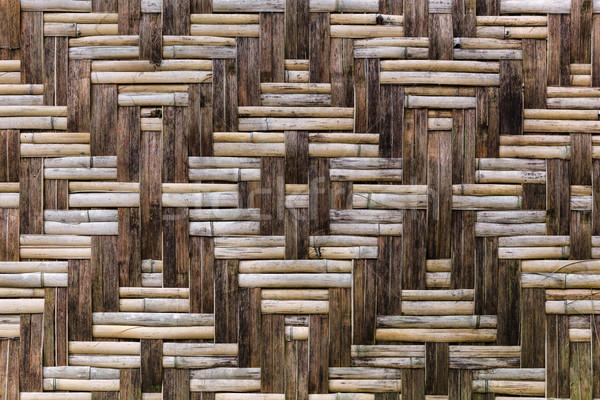 Paglia legno recinzione bella ornamento legno Foto d'archivio © luckyraccoon