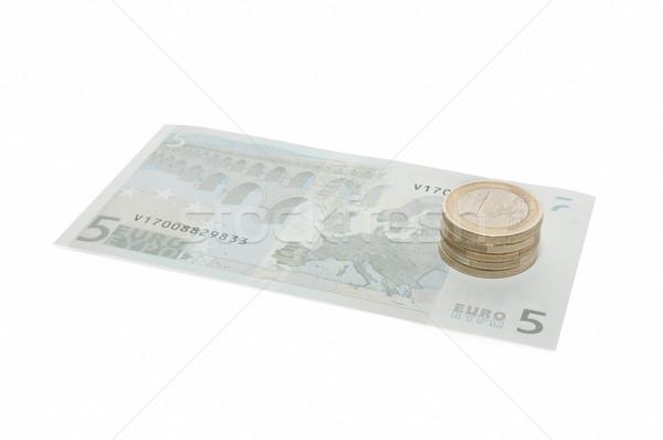 Dinheiro notas isolado branco negócio Foto stock © luiscar