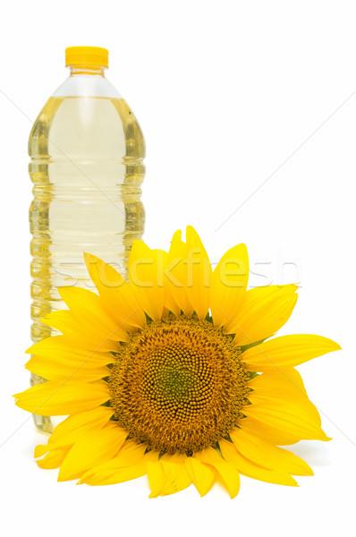 ひまわり油 ヒマワリ 白 太陽 背景 葉 ストックフォト © luiscar