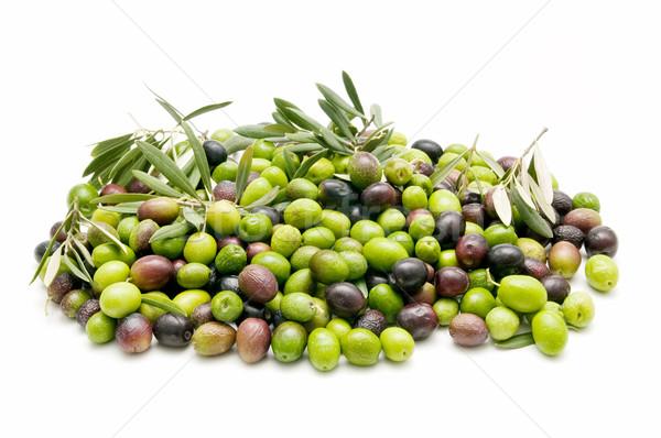 Azeitonas fresco branco negócio comida saúde Foto stock © luiscar