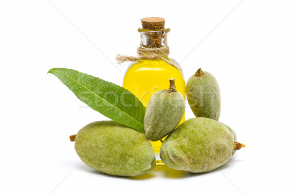 Amêndoa Óleo verde branco comida fruto Foto stock © luiscar