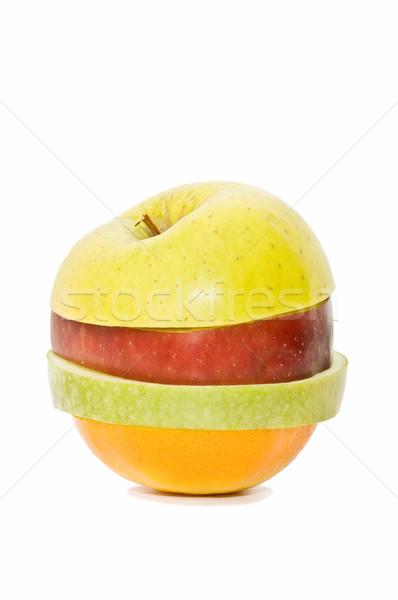 Karışık meyve yalıtılmış beyaz gıda elma Stok fotoğraf © luiscar
