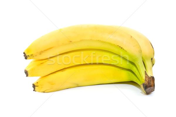 Foto stock: Canário · bananas · ecológico · branco · banana · sobremesa